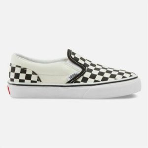 NEW VANS CLASSIC CHECKERED SLIP ON SHOES KIDS 12.5